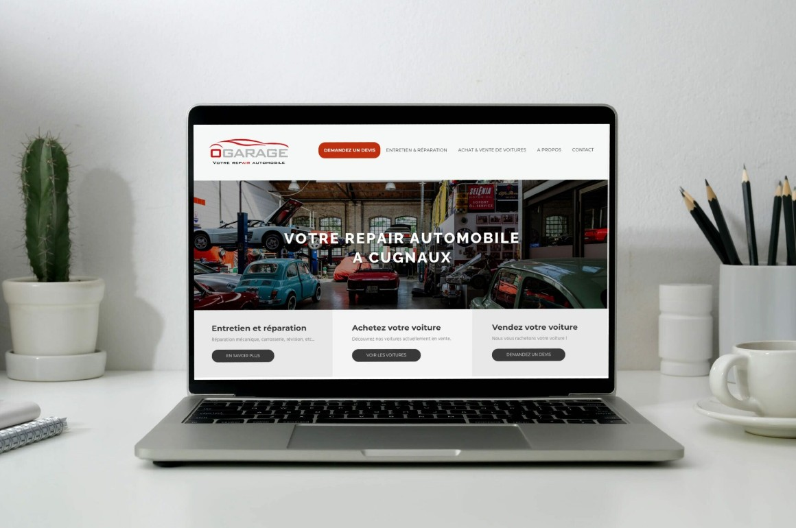 Création site Ô Garage