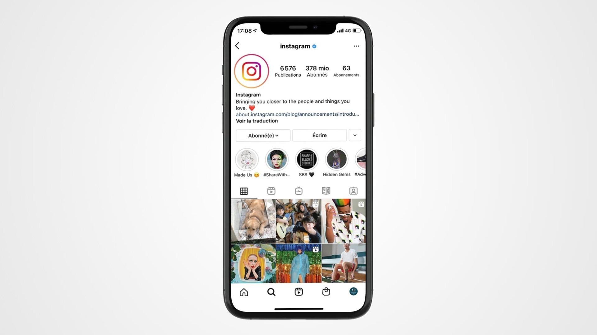 Guide format de publication Instagram